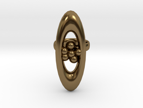 variation on a jweel ring i designed in Polished Bronze
