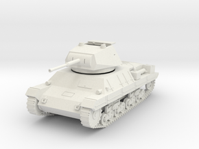 PV60B Italian P40 Tank - hatch open (28mm) in White Strong & Flexible