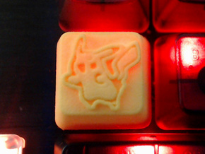 Pikachu Cherry MX R4 Keycap in Yellow Strong & Flexible Polished