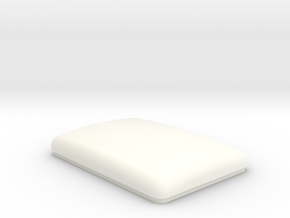 Flattop Bunk Cap (TS-BD-0001) in White Strong & Flexible Polished