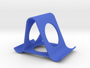 iPhone stand in Blue Strong & Flexible Polished