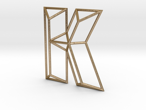K Typolygon in Polished Gold Steel