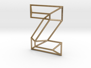 Z Typolygon in Polished Gold Steel