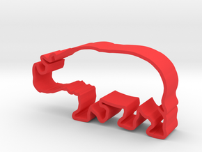 Javan Rhino in Red Strong & Flexible Polished