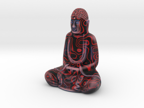 Textured Buddha: primitive red. in Full Color Sandstone