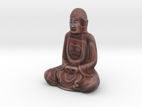 Textured Buddha: earthy bands. in Full Color Sandstone
