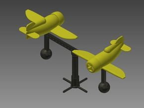 Mobile Stand (for 2 Gee Bee Racers) in White Strong & Flexible