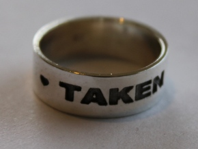 22 TAKEN Ring Size 7 in Polished Silver