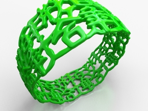 PAN Bracelet D64 RE115s1A10m25M45FR023-plastic in Green Strong & Flexible Polished