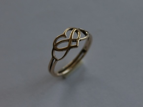 67 Forever Love  Ring Size 7 in 14k Gold Plated
