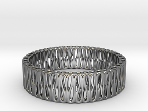 Bi-Organic Bracelet 65mm (026) in Polished Silver