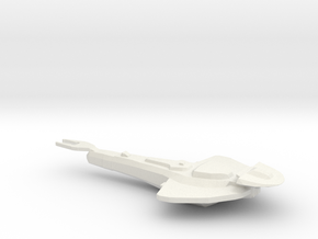 Cardassian Warship in White Strong & Flexible