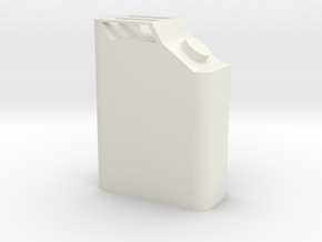 Gas Can 1/10 Scale in White Strong & Flexible