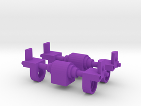 CW Ankle Joint Sprued in Purple Strong & Flexible Polished