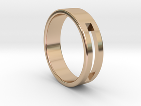 Minimalistic Mens Band  in 14k Rose Gold Plated