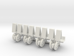 1/64 Mechanical Transplanter, set of 4 in White Strong & Flexible