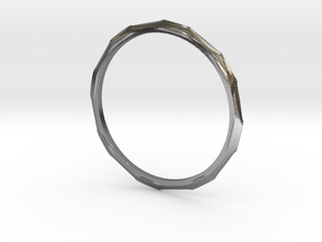 "Ring 'Industrial' - 16.5cm / 0.65"" - Size 6 in Polished Silver"