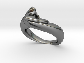 KissRing in Polished Silver