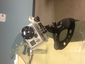 Magnetic GoPro Mount  with back mount for fabric,  in White Strong & Flexible