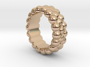 RING BUBBLES 14 - ITALIAN SIZE 14 in 14k Rose Gold Plated