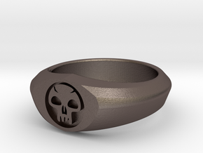 MTG Swamp Mana Ring (Size 11) in Stainless Steel
