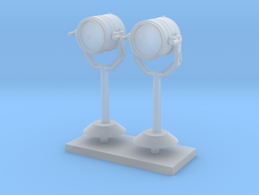 1:96 scale Search Light on stand - Set of 2 in Frosted Ultra Detail