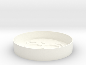 Skull Coaster in White Strong & Flexible Polished
