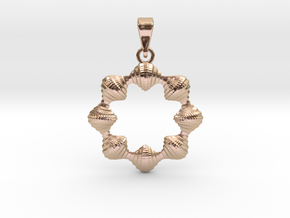 0069 Antisymmetric Torus Pendant (p=8.0) #008 in 14k Rose Gold Plated