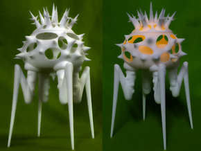Biomorphic Object #15- Lantern in White Strong & Flexible