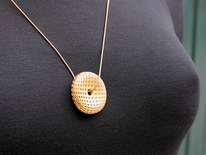 Mark 2000 Pendant (#2000) in Polished Gold Steel