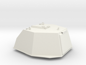 turret DShKM-2BU Articulated Part A Scale 1:16 in White Strong & Flexible