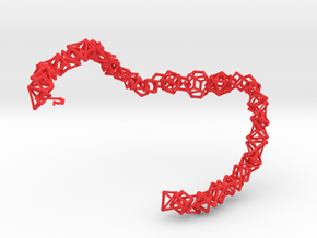 "Coral Bones choker - 19"" in Red Strong & Flexible Polished"