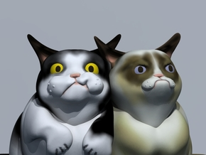 Grumpy Cat (Tard) & Pokey in Full Color Sandstone