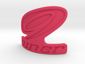 Niner bicycle front logo in Pink Strong & Flexible Polished
