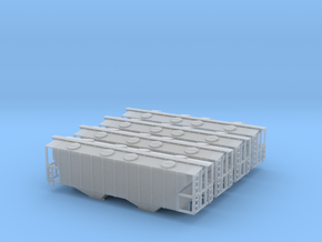 100 Ton Two Bay Covered Hopper Set - Zscale in Frosted Ultra Detail