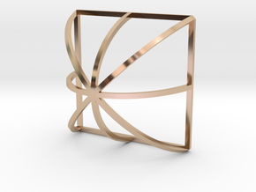 Arch Plus Square in 14k Rose Gold Plated