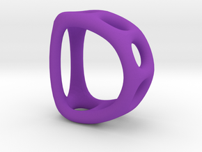 Alphabet D in Purple Strong & Flexible Polished
