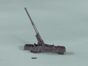 """M65 Gun """"Atomic Annie"""" solo 1/285 6mm in Frosted Ultra Detail"""