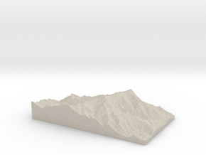 Model of Mount Mitchell in Sandstone