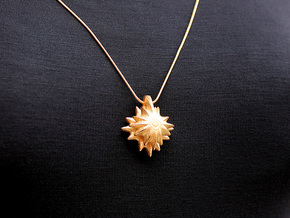 Shining Star Pendant #2275 in Polished Gold Steel