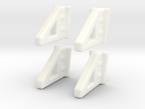 ZMR250 Landing Gear(NEW FOUR PACK) in White Strong & Flexible Polished