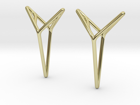 """A Line"" YOUNICA, Twins Pendant in 18k Gold Plated"