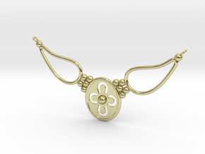 pendant with flower ET in 18k Gold Plated