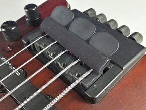 Bridge Pick Holder - Steinberger Bridge - Smooth in Black Strong & Flexible