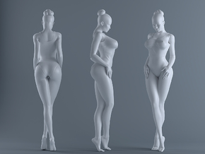 Sexy Girl-021  scale 1/24 Passed in White Strong & Flexible Polished