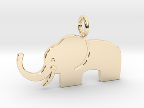 Elephant pendant in 14k Gold Plated