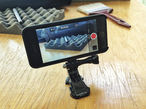 iPhone 5 Case - GoPro Adapter in Black Strong & Flexible