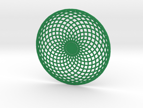 Lissajous Circle in Green Strong & Flexible Polished