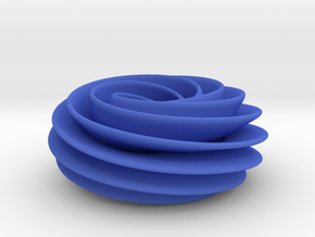 Spiral Torus in Blue Strong & Flexible Polished