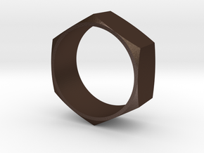 Hex Nut Maker Ring (Size 10.5- 20mm) in Matte Bronze Steel